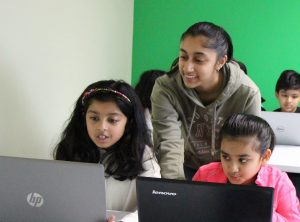 Before the pandemic, senior Tanushree Koshti spent her Saturdays teaching young children coding principles. Koshti herself hopes that early exposure will inspire more youth to pursue subjects in the STEM field.